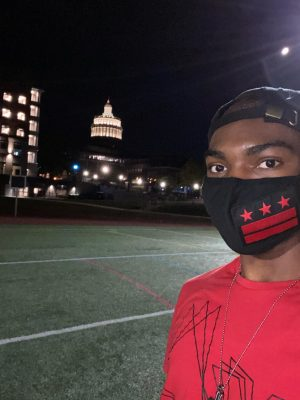 Mekhai Morrison-Gaskins, a 2020 graduate, is pictured outside of the University of Rochester.